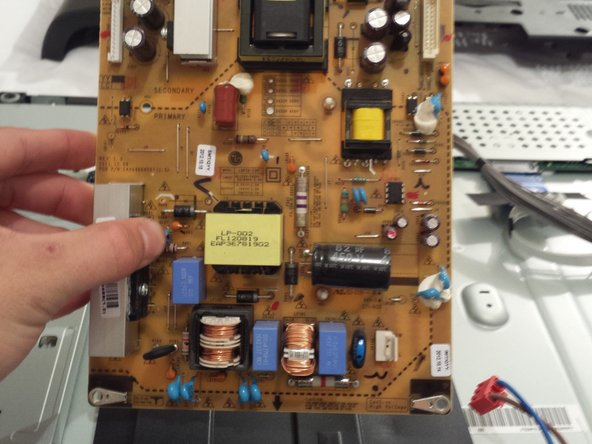Simply put your new power supply board in place of the old one!