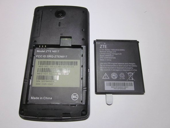 ZTE Quest n817 Battery Replacement