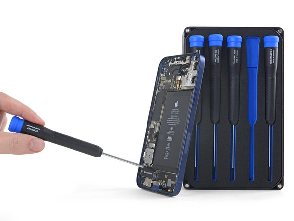 We see a lot of standoff screws near the bottom of the case. Luckily, our Marlin Precision Screwdriver Set for iPhones has a standoff driver for just such occasions.