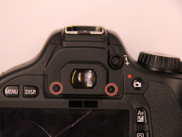 Remove the two screw beneath the eyepiece