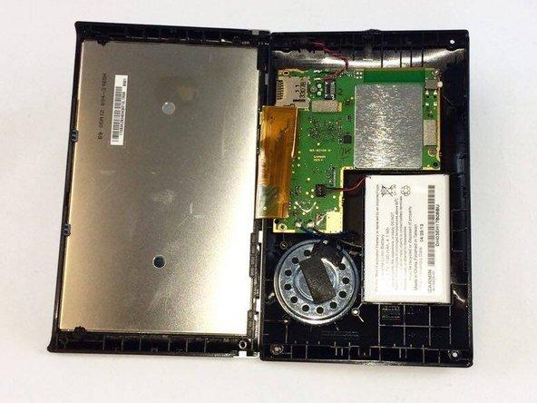 Image 3/3: Open your device from the top, so that you don't disconnect the ribbon cable.