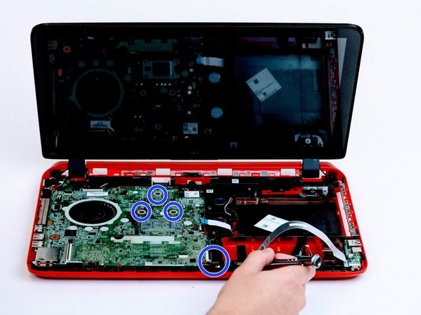 Remove screws from the motherboard.
