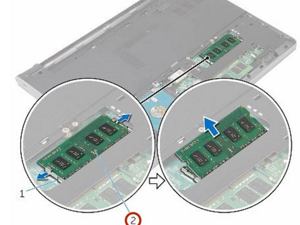 Slide the memory module firmly into the slot and press the memory module down until it clicks into place.