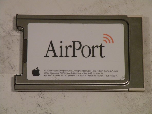 The Airport 802.11b PCMCIA Card.