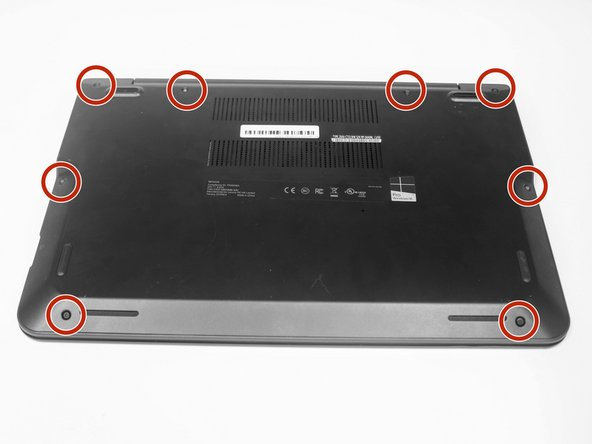 Remove the 8 screws that hold down the back panel using the Phillips #000 screwdriver.
