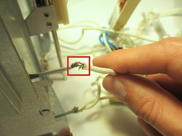 Remove the soldered wire that is hooked to each part of the end plate assembly.