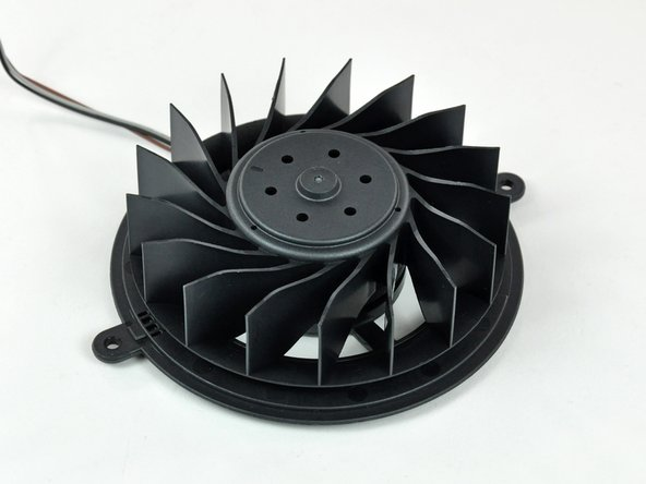 The ~95 mm diameter 17 blade impeller was definitely designed with quiet in mind. It is extremely stiff and presumably made of ABS plastic.