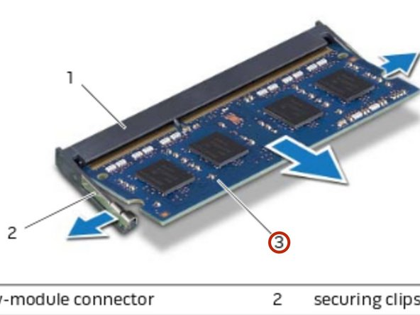 Slide and remove the memory module from the memory-module connector.