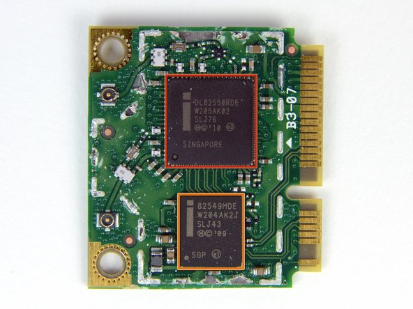 Image 3/3: Intel [https://chipworks.secure.force.com/catalog/ProductDetails?sku=INT-82549MDE|82549MDE] Wi-Fi controller