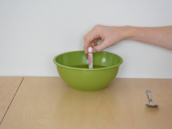 The marker can slip into the bowl.  It just results in a longer drying time.