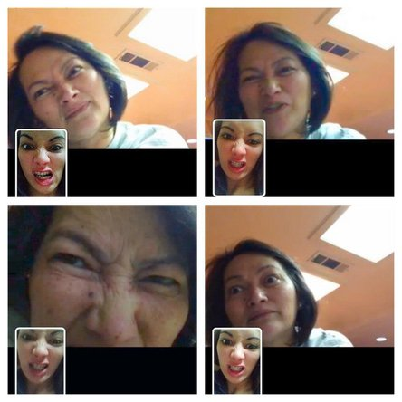Mother's Day FaceTime images with Mom
