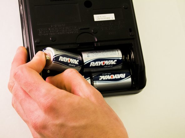 Ensure batteries are facing the correct way in the battery compartment