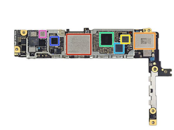 And here's a side of Apple chips on the back of the logic board: