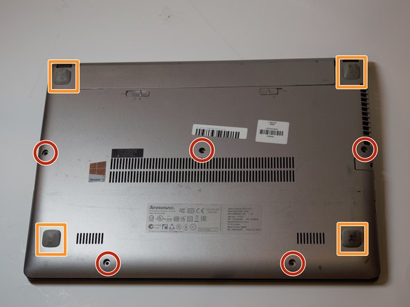 Remove the five 6mm Phillips #0 screws from the back panel.