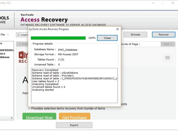 Now, the MS Access Database recovery software will preview all the data of ACCDB & MDB file