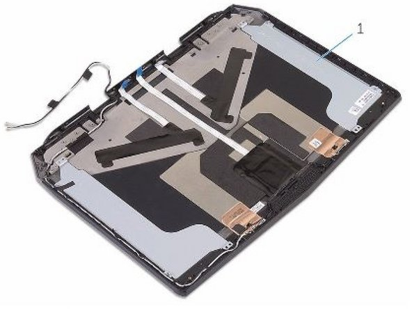 Place the display back-cover on a flat surface.