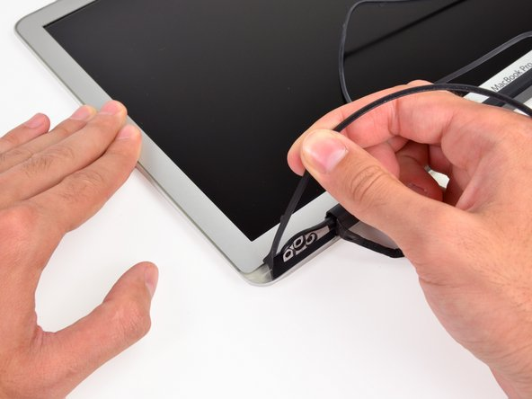 Pull the gasket off the bottom edge of the display to completely free it and set it aside.