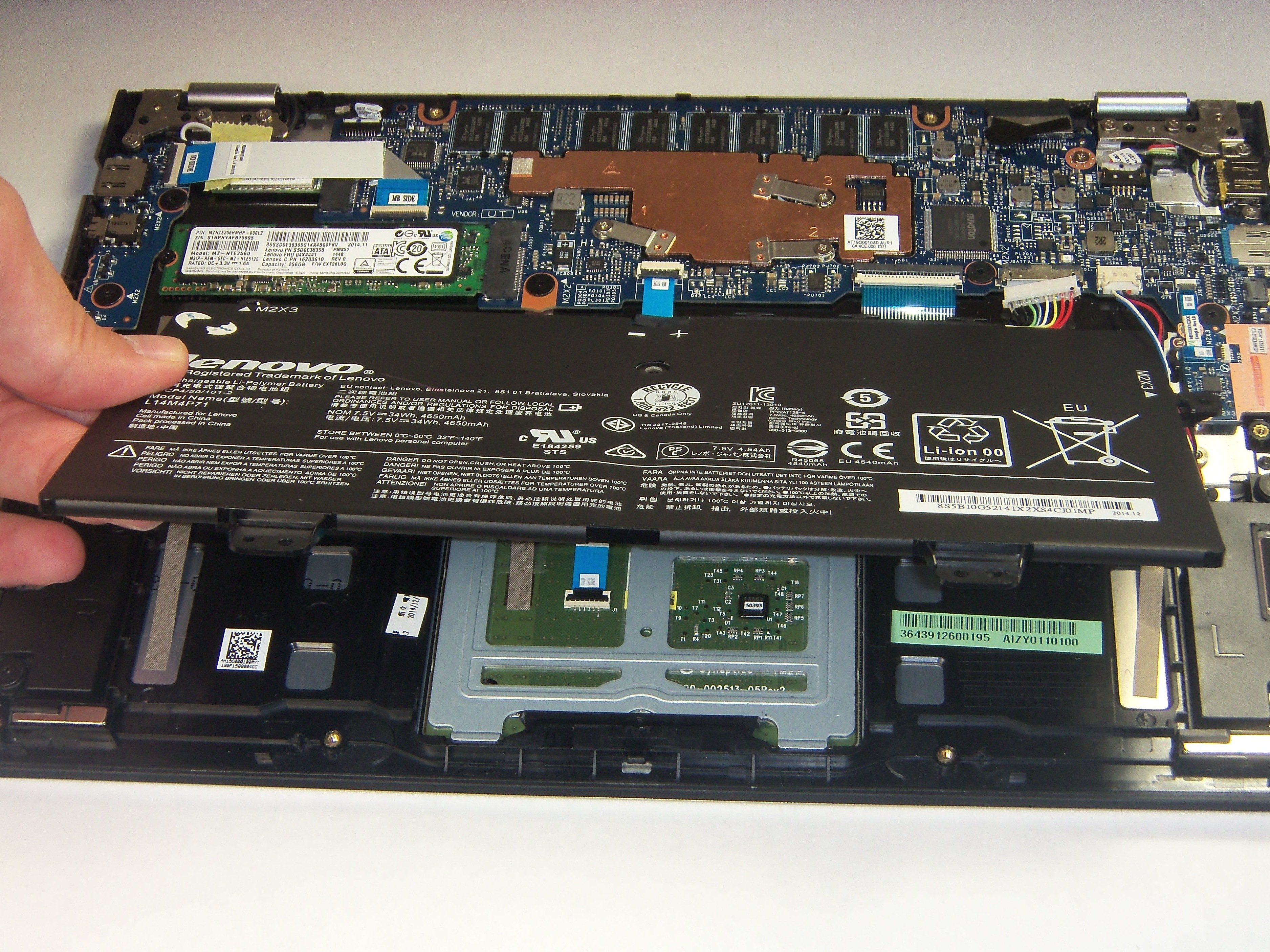 Lenovo Yoga 3 11 Battery Replacement - iFixit Repair Guide