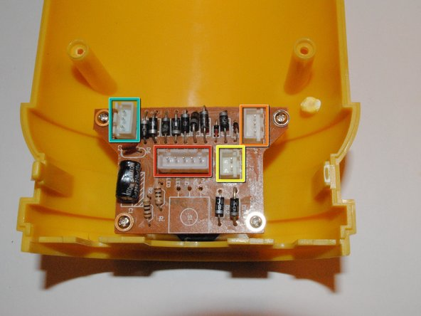 The main power board is located directly behind the power button, screwed into the front plate.