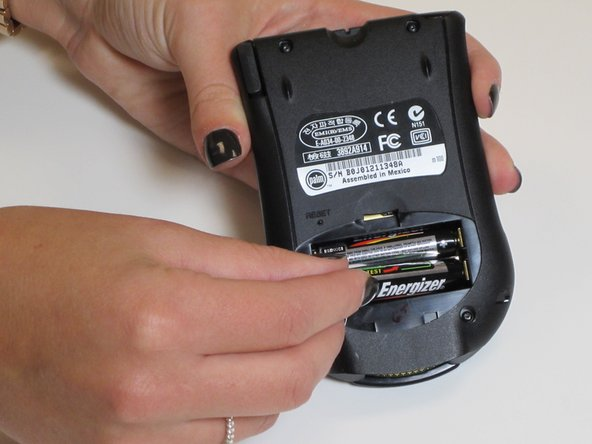 Check the type of batteries to be sure they are both AAA batteries.
