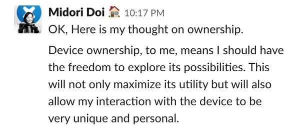 Midori Doi of iFixit on what ownership means