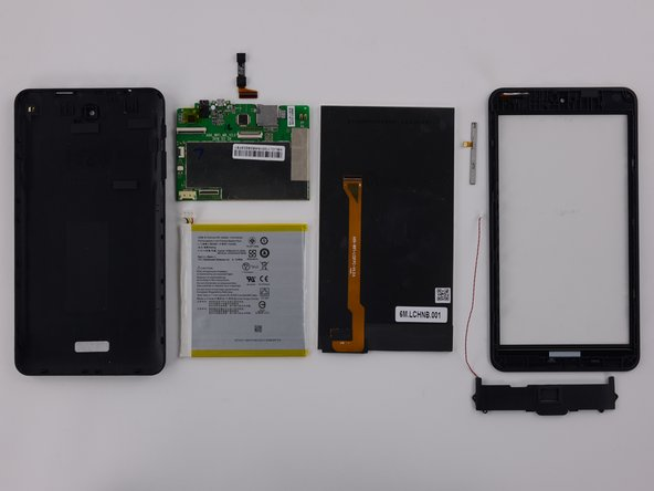 Image 1/2: LCD and front glass are not fused and can be replaced individually.