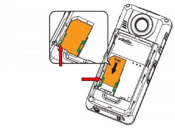 Use the tweezers,if needed, to grasp the SIM card for removal.  Apply a slight pulling tension and remove it from under the tabs as shown.