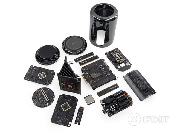 Mac Pro Late 2013 Repairability Score: 8 out of 10 (10 is easiest to repair)