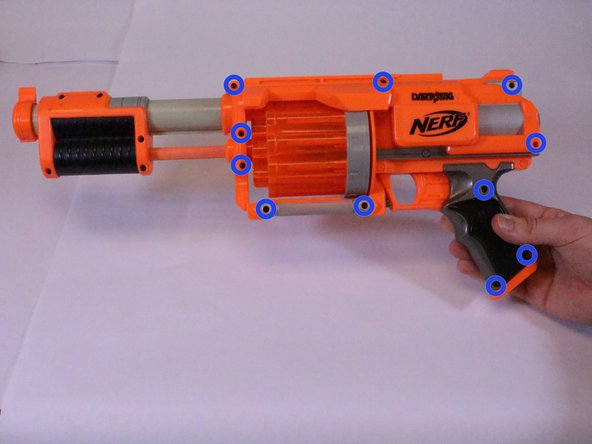 Disassembling Nerf Dart Tag Furyfire Main Body