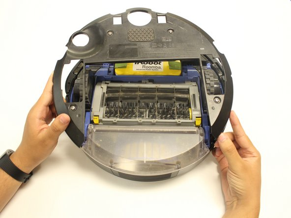 Remove the Roomba's external underside.