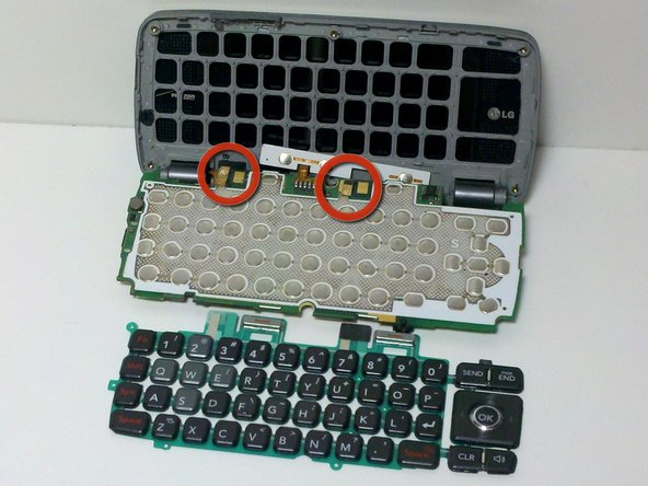 Align the keyboard with four gold tabs at the top of the keyboard.