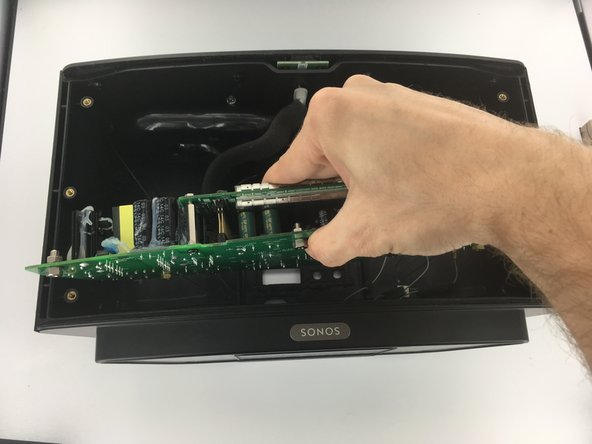 Remove circuit board by lifting it straight away from the rear plate.