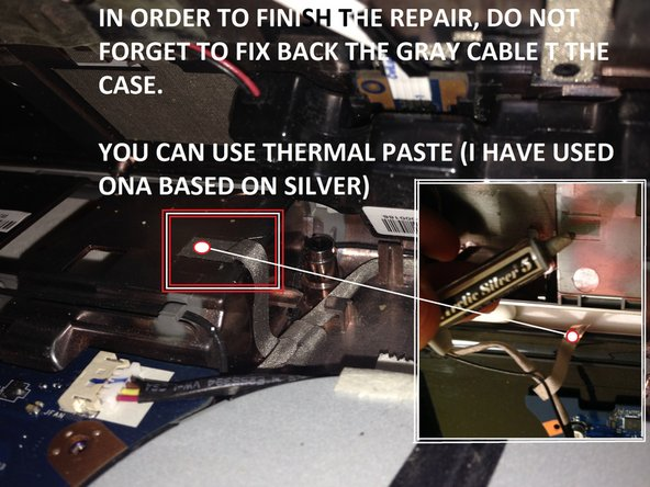 add some thermalpaste to the gray cable