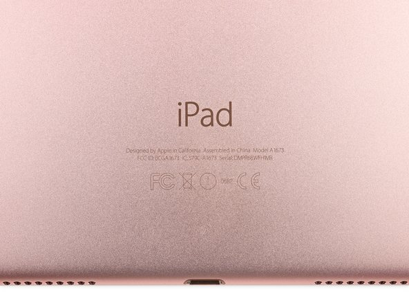 Image 3/3: And, for the second time this week, the Rose Gold rear case shows off a new model number: A1673, and the usual regulatory markings.