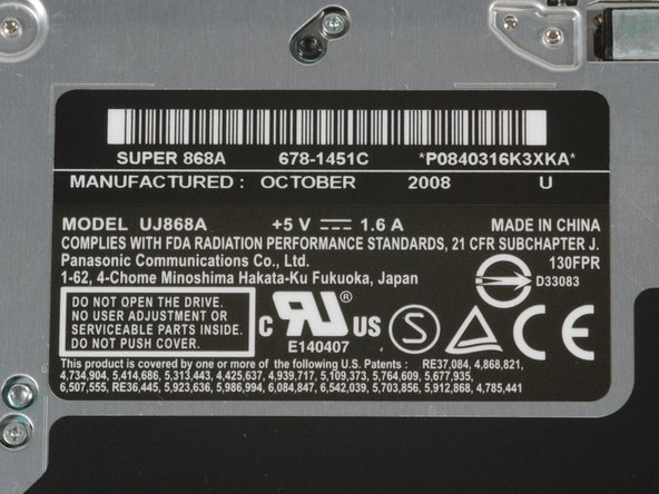 The optical drive shows a manufacture date of October 2008. That drive sure got from the factory to us fast!