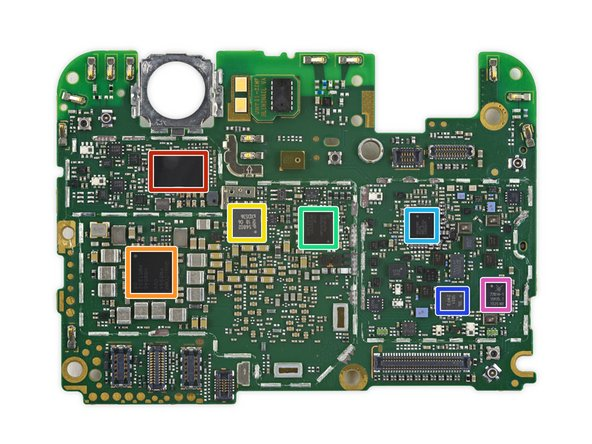 The back of the motherboard is brimming with even more control hardware: