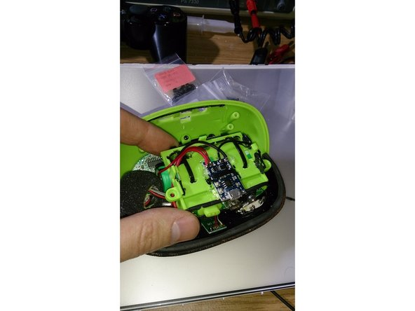 solder the new battery to the b+ and b- points on the charger