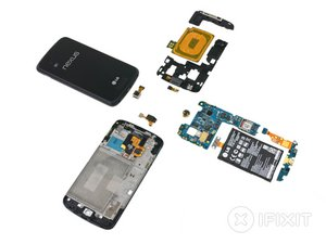 Vue éclatée du Nexus 4