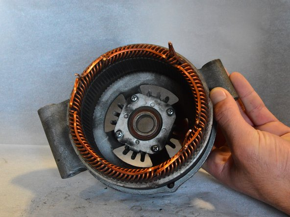 You can pull the stator out of the remaining cover and examine it.