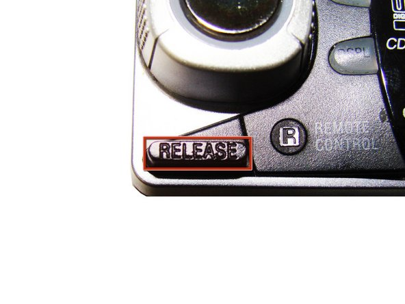 Press down the release button on the bottom left corner of the face plate.