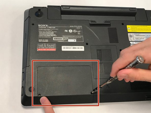 Sony Vaio PCG-81312L Hard Drive Replacement