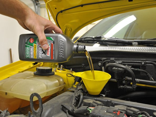 car maintenance: changing the oil