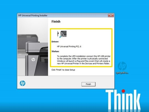 How to install a hp laserjet printer using the hp upd (windows.