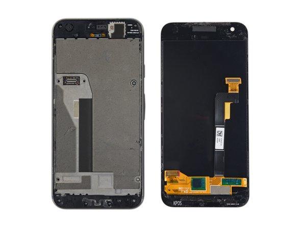 En los siguientes pasos, separarás la pantalla cortando el adhesivo entre la pantalla y el chassis del Pixel