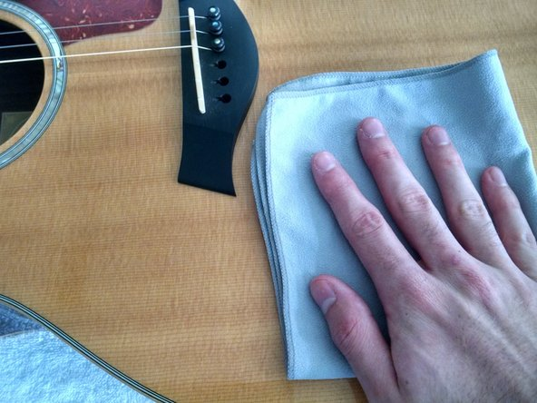 Repeat the procedures in Step 2 for the second half of the guitar, giving special attention to the fretboard.