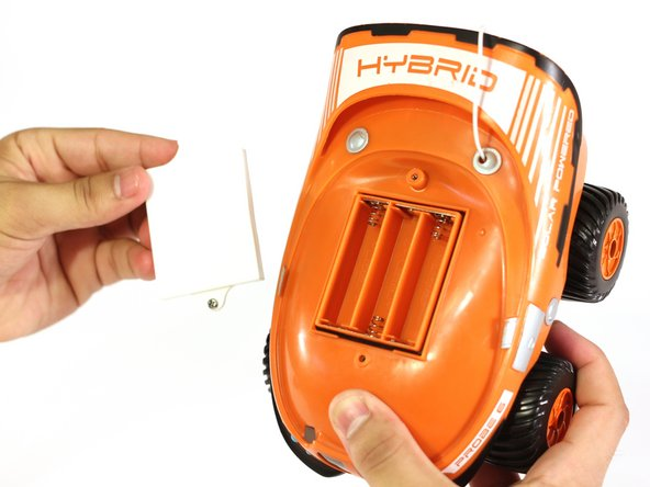 Image 1/1: Turn the RC car over to reach the six screws on the bottom.