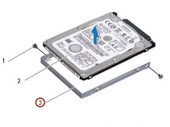 To avoid damage to the hard drive, gently slide the hard-drive bracket  away from the hard-drive slot.