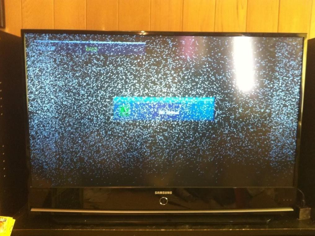 tv repair screen big on white mitsubishi chip u dots dlp black