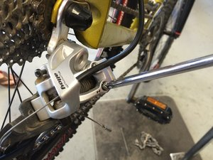 How to adjust and maintain 2006 Iron Horse Warrior Rear Derailleur Cables