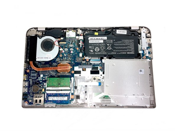 Image 1/2: Remove all the 2.5x6mm screws that secure the battery with a Philips 00 screwdriver.
